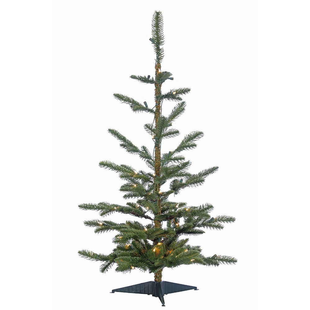 """36"""" Layered Noble Pre-Lit Mini Tree, Clear Lights"""