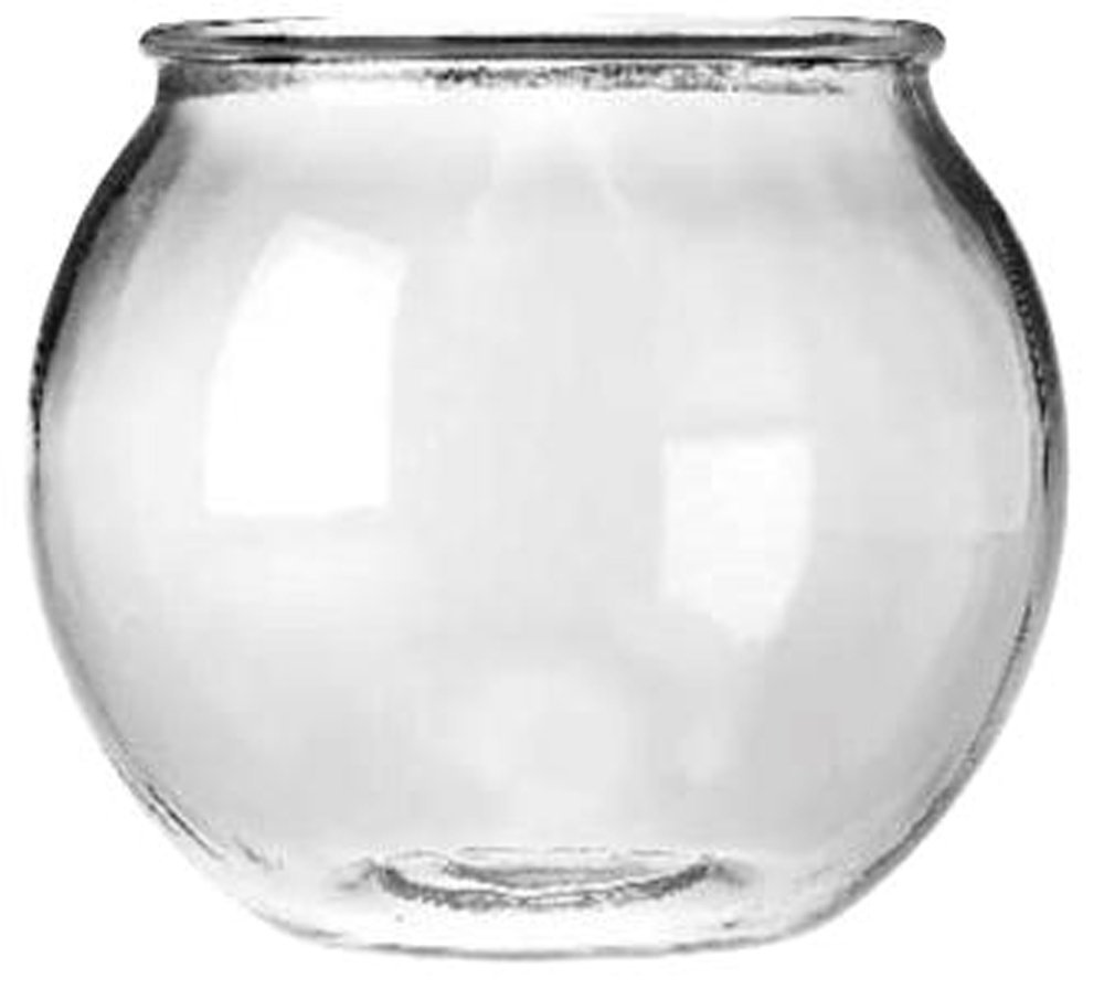 Departments anchor hocking glass round fish bowl 0 5 gal for 2 gallon fish bowl
